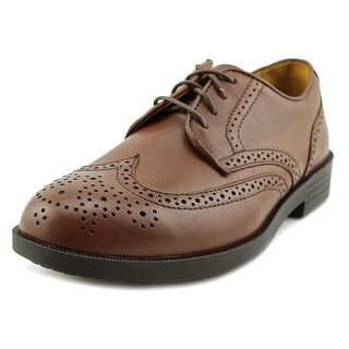 Drew Clayton Men N Round Toe Leather Brown Oxford