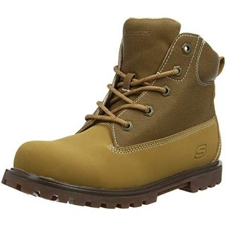 Skechers Boys Mecca - Outer Venture Boot Tan Size 7 M Us Big Kid