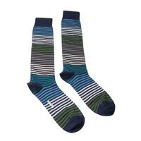 Missoni GM00CMU5233 0003 Navy/Green Knee Length Socks