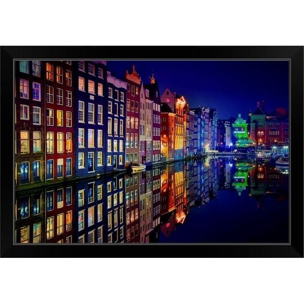 """""""Amsterdam"""" Black Framed Print"""