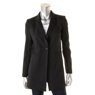 Lafayette 148 Womens One-Button Blazer Wool Solid