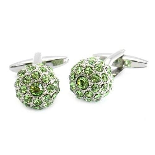 Shop Swarovski Elements Peridot Green Ball Cufflinks - On Sale - Free  Shipping On Orders Over  45 - Overstock - 12220776 38b60c61eec8