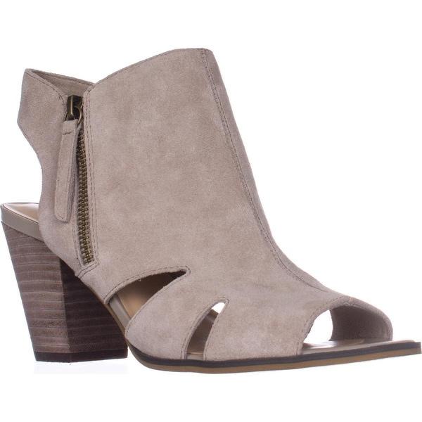 Bella Vita Kimmy Peep Toe Heeled Zip Cut Out Sandals, Cloud Suede