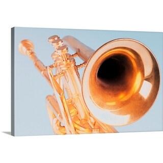 """Close-up of a trumpet"" Canvas Wall Art"
