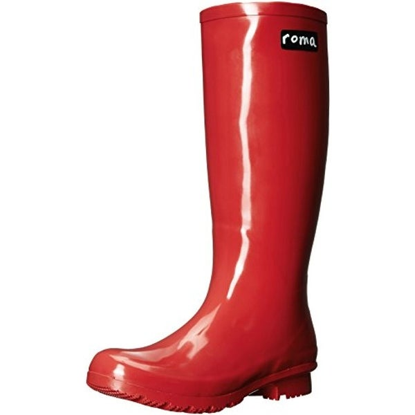 Roma Costume Womens Emma Short Rain Boots Rubber Mid Calf