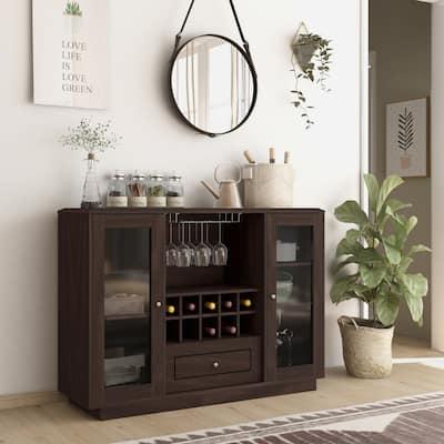 Furniture of America Transitional Espresso Dining Buffet