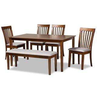 Baxton Studio Minette Wood 6-Piece Dining Set
