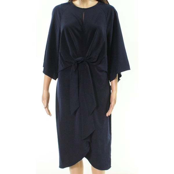 Maggy London Midnight Blue Womens Size 10 Keyhole Sheath Dress