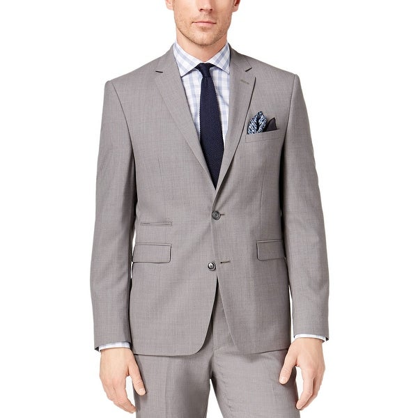 Vince Camuto Mens Two Button Slim Fit Solid Suit