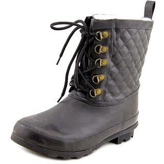 Chooka Outdoor Quilted Laceup Women Round Toe Synthetic Rain Boot