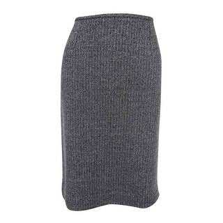 Calvin Klein Women's Plus Size Textured Pencil Skirt - Black - 14W