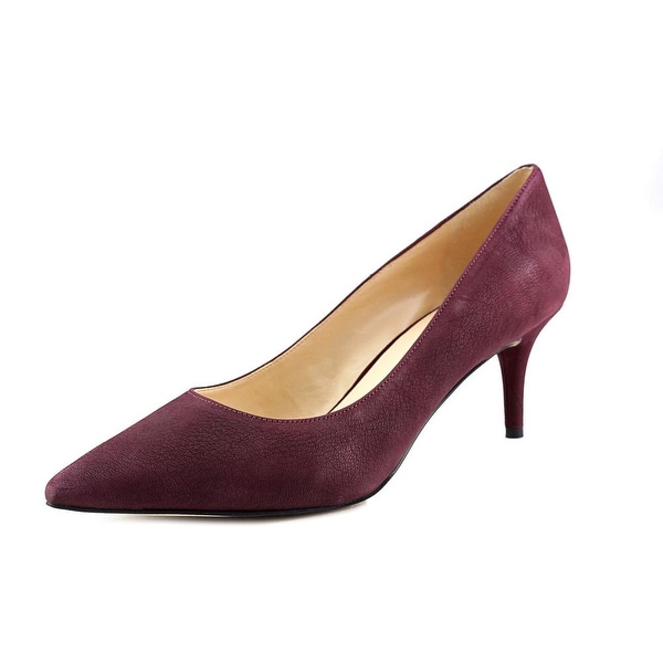 Nine West Margot Women Pointed Toe Leather Burgundy Heels