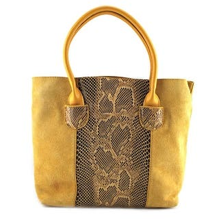 Buco East/West Snake Tote Women Suede Yellow Tote|https://ak1.ostkcdn.com/images/products/is/images/direct/56fc965845b9af3d460428f6250fe1ff635dc5ea/Buco-East-West-Snake-Tote-Women-Suede-Tote.jpg?impolicy=medium