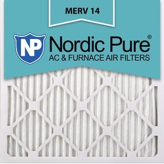 Nordic Pure 20x20x1 Pleated MERV 14 AC Furnace Air Filters Qty 6