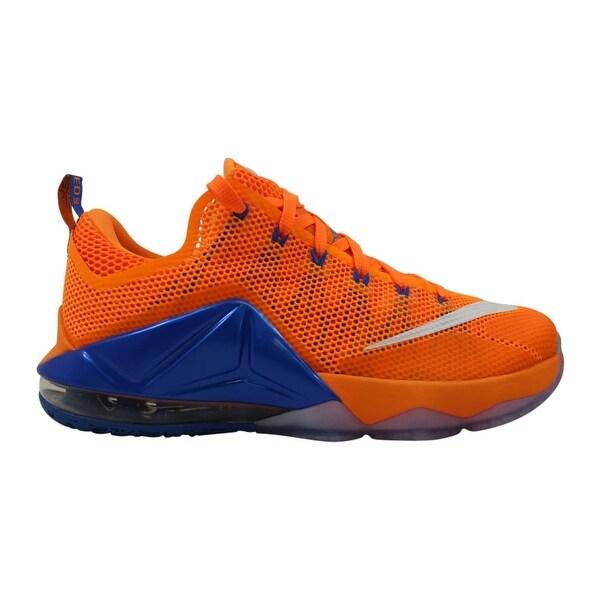 511ea443b3fb Shop Nike Lebron XII 12 Low Bright Citrus White-Total Orange-Soar ...