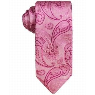 SUSAN G. KOMEN NEW Pink Paisley Swirl Mens Classic Awareness Necktie