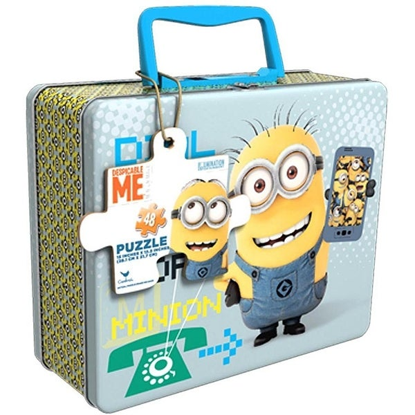 Minions Movie 48 pc Puzzle Tin with Handle