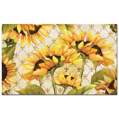 """Decorative Anti-Fatigue Memory Foam Mats 30"""" x 20"""" - Sunflowers in Bloom - 30"""" x 20"""""""