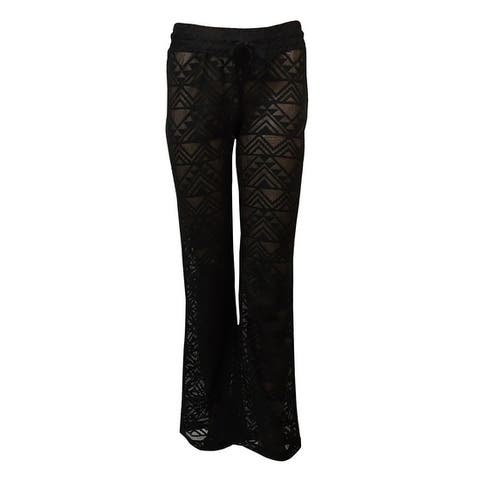 Miken Women's Crochet Lace Swim Pants Cover Up