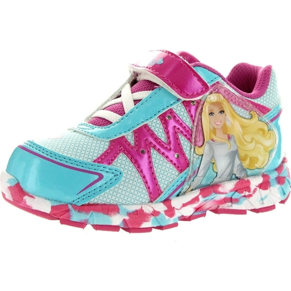 Barbie Girls Bbf310 Fashion Sneakers - Blue/Pink - 7 m us toddler