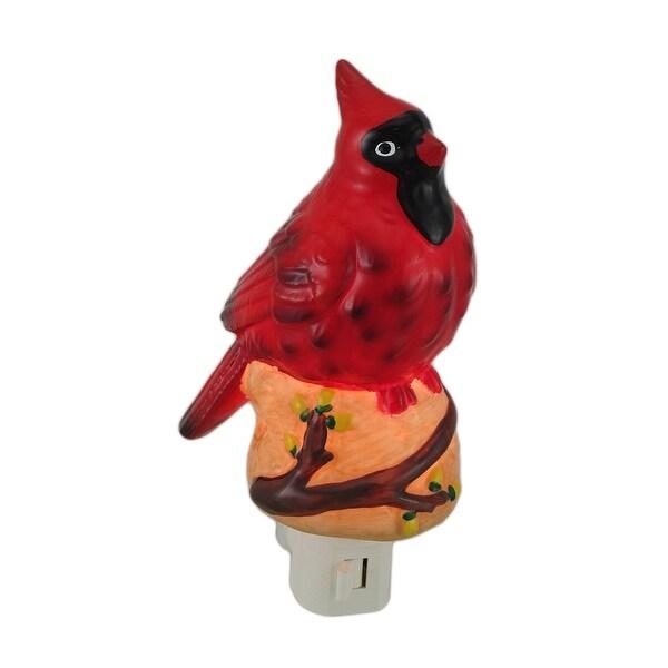Northern Cardinal Porcelain Night Light - Red