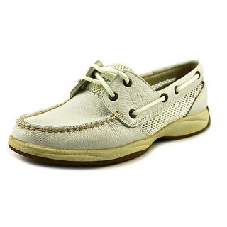 Sperry Top Sider Intrepid Women Moc Toe Leather White Boat Shoe