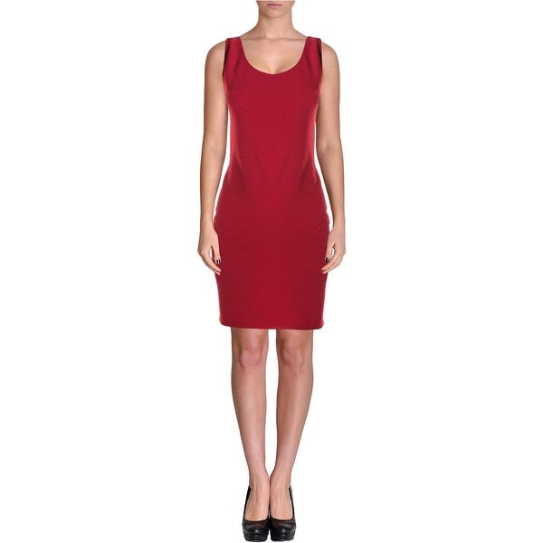 Aqua Womens Casual Dress Textured Cut-Out Back