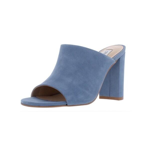 2e28d2fbad824 Steve Madden Womens Esmeralda Slide Sandals Nubuck Block Heel