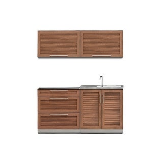 NewAge Products Outdoor Kitchen 64 Inch W x 24 Inch D Piece 4 Set