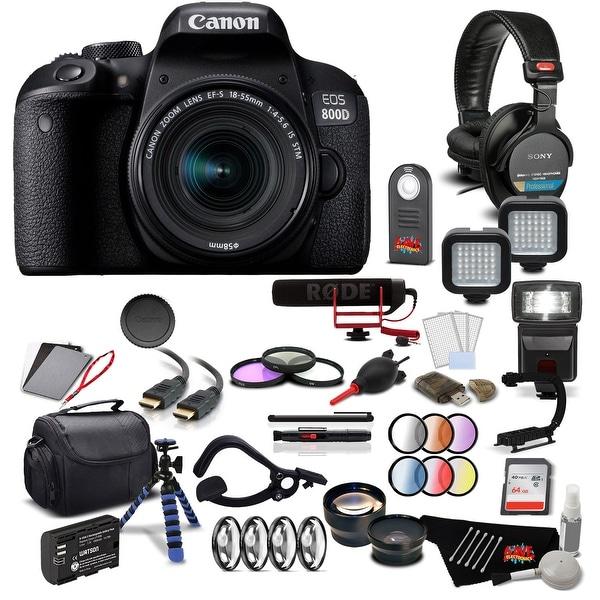 Shop Canon 800D DSLR Camera w/ 18-55mm Lens Pro Filmmaker