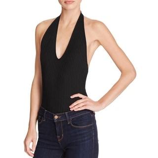 Aqua Womens Bodysuit Jersey Halter