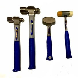 4 Pc. Hammer Set- Ball Peen, Soft Face And Drilling Hammer