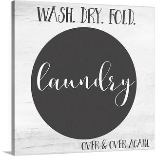 """""""Laundry"""" Canvas Wall Art"""