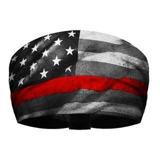 That's A Wrap Firefighter Service Flag Performance Knotty Band KB2915-RED - One Size Fits most