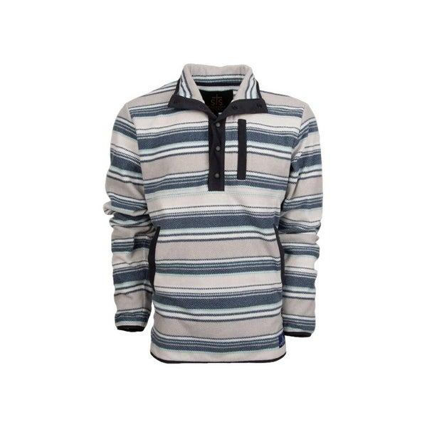 StS Ranchwear Western Sweatshirt Mens Ringo Fleece Navy Stripe. Opens flyout.