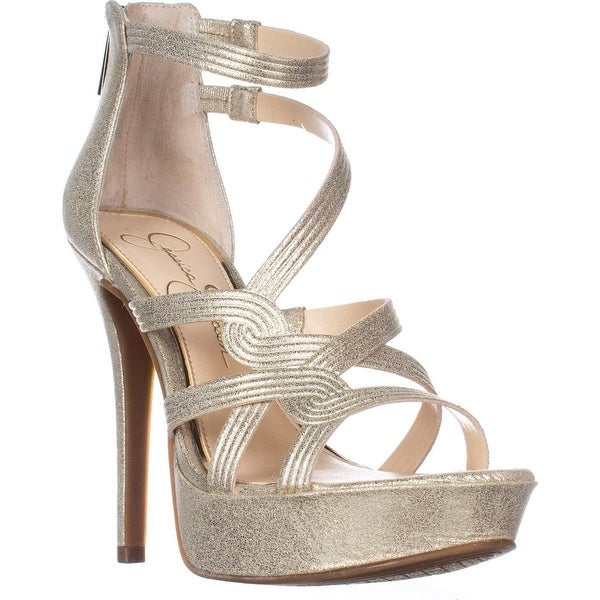 Jessica Simpson Bellanne Platform Heeled Sandals, Pale Gold