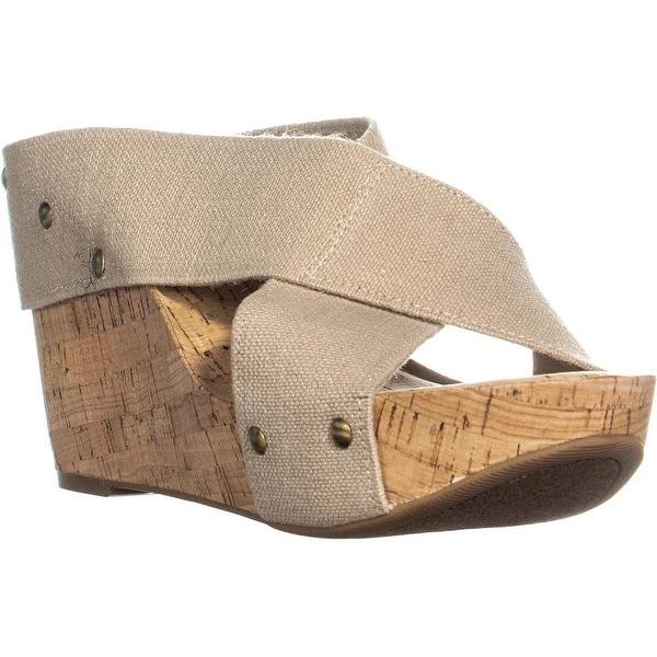dfd817ef77b3 Shop Lucky Brand Miller2 Woven Cork Wedge Sandals