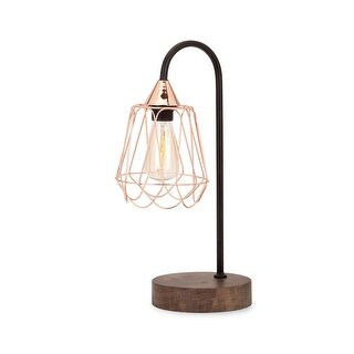 Cupernalo Copper and Wood Table Lamp