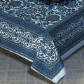 Handmade 100-percent Cotton Sunflower Tapestry Bedspread Tablecloth Blue Gray - Sizes: Twin Full Queen King - Thumbnail 0