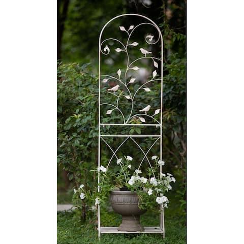 "72""x20""x12"" Decoration Metal Trellis with Flower - 2pcCombo"