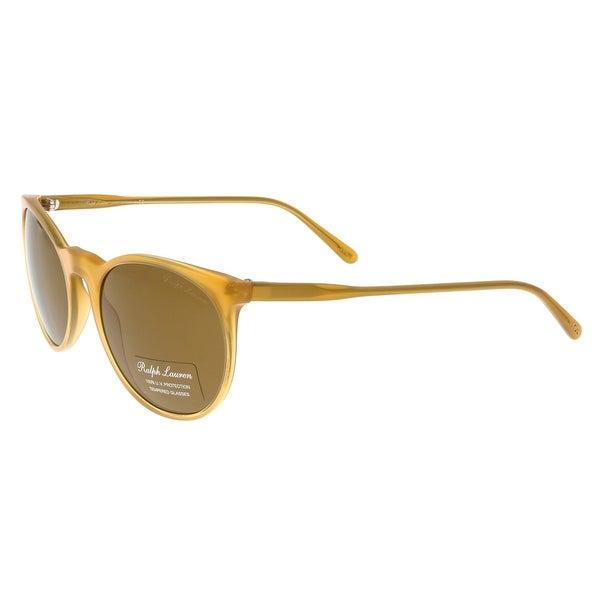 10f62b81da5a Shop Ralph Lauren PH4051P 527553 Light Havana Oval Sunglasses - 53 ...