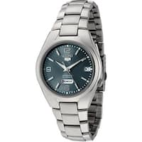 Seiko Men's 5 Automatic  Green Stainless-Steel Automatic Fashion Watch