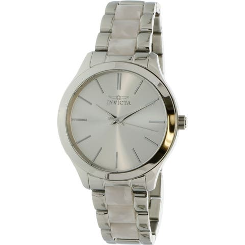 Invicta Women's Angel Silver Stainless-Steel Japanese Quartz Diving Watch