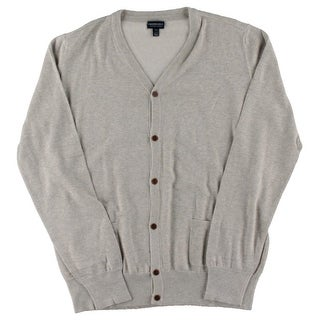 Faconnable Tailored Denim Mens Cotton Long Sleeves Cardigan Sweater - 2XL