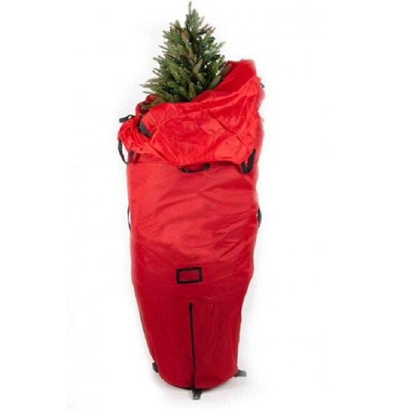 7' Green Heavy Duty Upright Artificial Christmas Tree Storage Bag - For 6' - 8' Trees