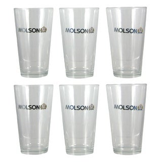 Set of 6 Molson 16oz Pint Beer Glass
