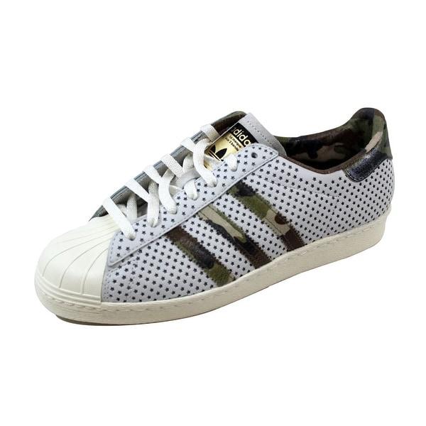 Adidas Men's Superstar 80s Vintage White/Camo Gold Quickstrike Q16292