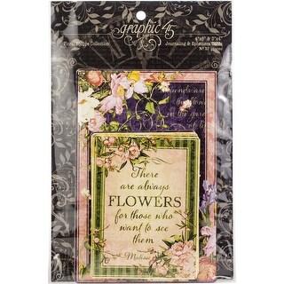 "Floral Shoppe Ephemera Cards-(16) 4""X6"" & (16) 3""X4"""