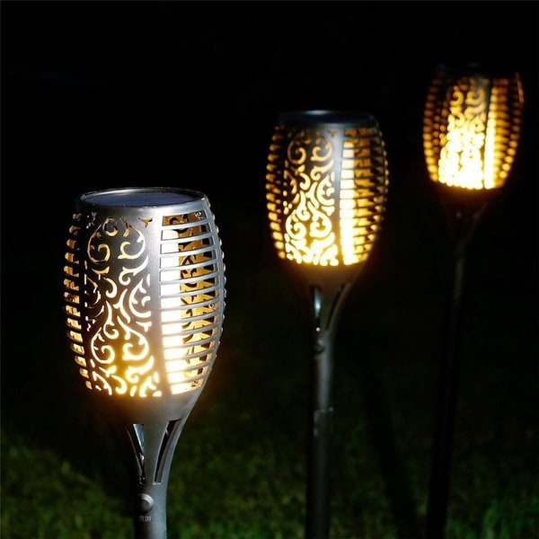 Shop Solar-Powered Flickering Flame-less Tiki Torch Light