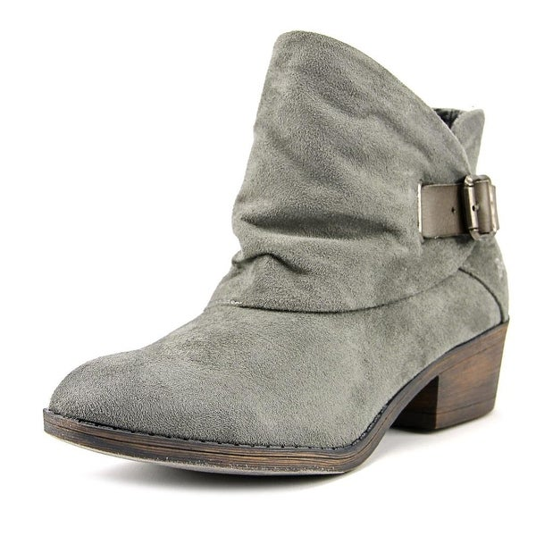 Blowfish Sill Women Round Toe Synthetic Gray Bootie